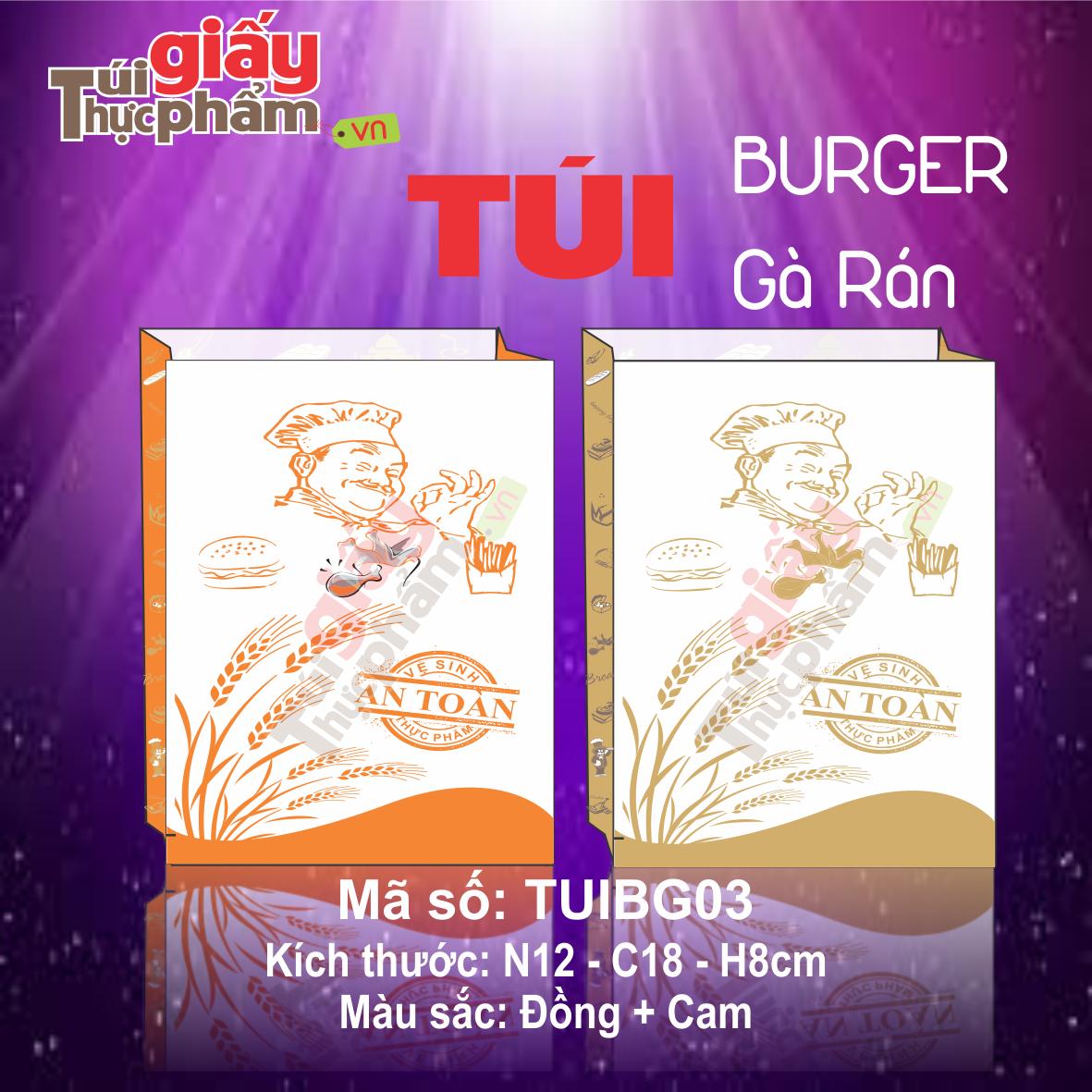 túi bánh mì burger