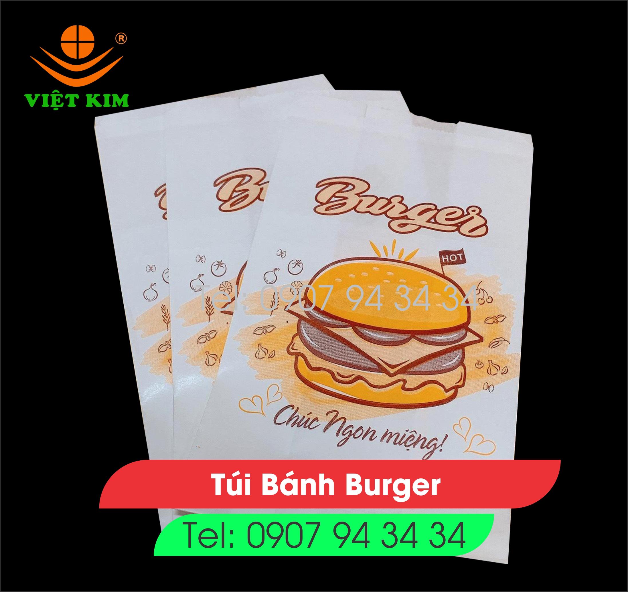túi bánh bao - túi giấy đựng bánh bao - túi gà rán - túi burger