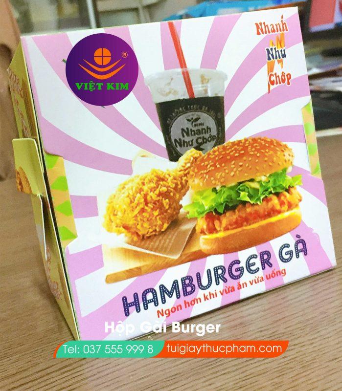 Hộp burger nắp cài